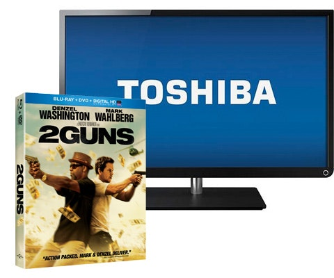 "Flatscreen TV & ""2 Guns"" on DVD sweepstakes"