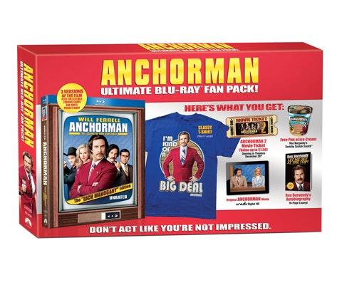 """Anchorman: Legend of Ron Burgundy"" Gift Set sweepstakes"