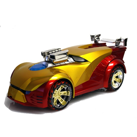 Iron Man customized toy car from RIDEMAKERZ sweepstakes