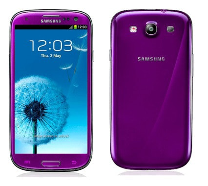 Samsung Galaxy S III in purple sweepstakes