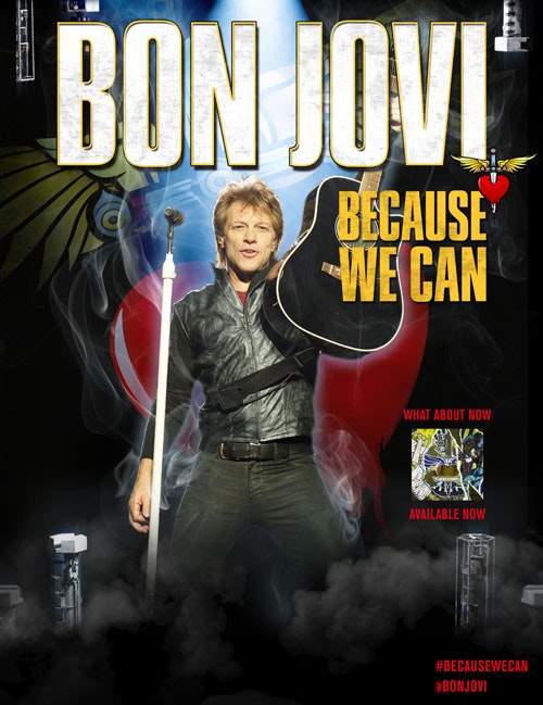 west coast tickets to Bon Jovi's BECAUSE WE CAN TOUR sweepstakes