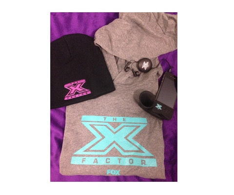 swag bag from The X Factor sweepstakes